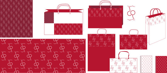Pattern cherry together bag