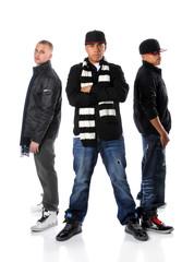 Tree Young Men Posing