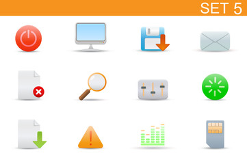 set of elegant simple icons