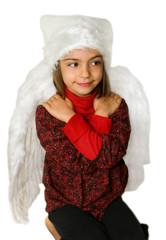 petit ange à genoux