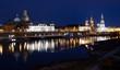 Ribera del Elba nocturna, Dresde