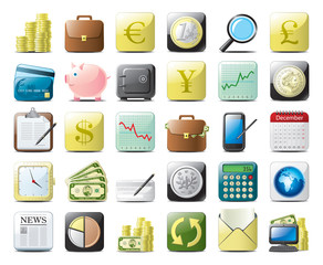 financial web icons