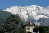 Refuge devant le Mont Blanc poster