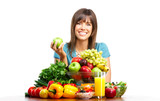 Fototapety woman  with fruits