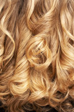 Fototapety close-up of curly blond hair