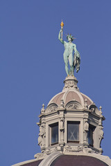 Statue on dome from Heldenplatz in Vienna