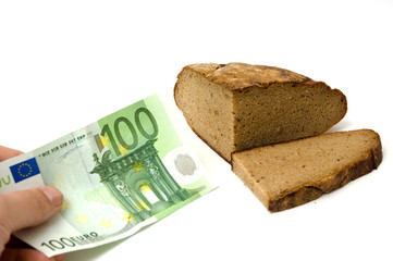 money and bread