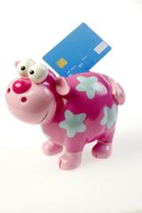 Piggybang with a creditcard