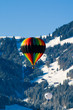 hot air balloon in the alps
