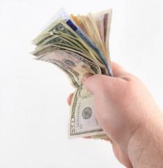 Handing money over