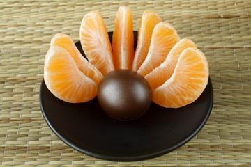 wellness & spa decoration - orange treatment