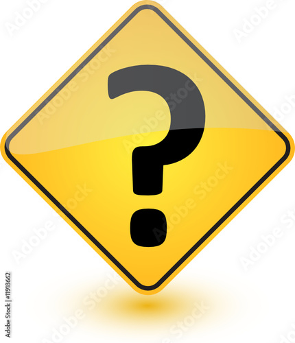Yellow Question Mark Label