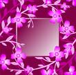 floral background, floral frame
