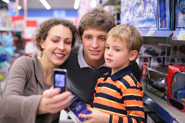 Family is photographed in shop