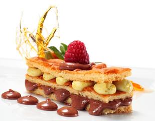 Chocolate and Pistachio Sponge Cake