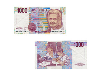 Mille lire della Banca d'Italia del 1990
