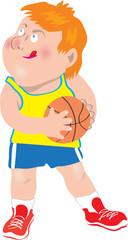 child holding basketball