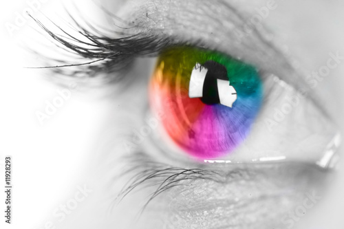 Poster Colorful eye