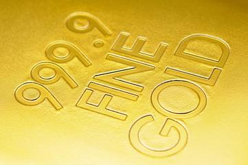 Fine gold closeup