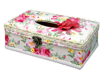 elegant tissue box isolated