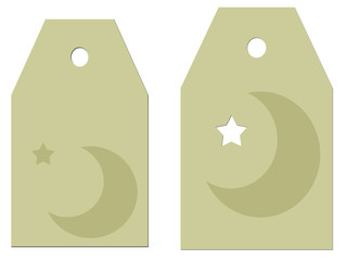 Moon Stars Parchment Gift Tags