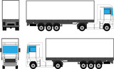 Truck prepared for branding poster