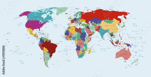 poster of political map of the world