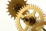 mechanical clock gear poster