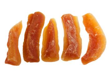 spears of dried papaya fruit