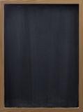 blank blackboard with vertical eraser smudges poster