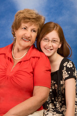 Generations - happy grandmother and granddaughter