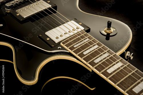 Leinwanddruck Bild Vintage Retro Electric Guitar