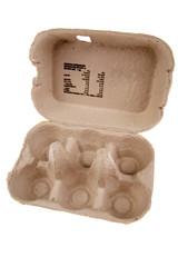 Egg carton isolated on white