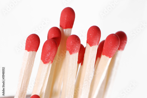 Matches in close-up
