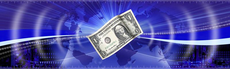 Money banne concept