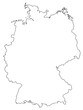 deutschland karte umriss germany map