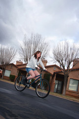 Teen Female Riding a Bike