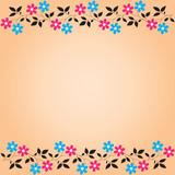 Gentle pink floral background  (vector) poster