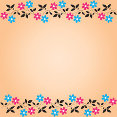 Gentle pink floral background  (vector)