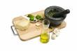 Herstellung von grüner Pesto sauce
