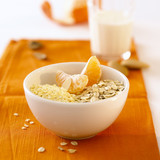muesli with mandarin orange segments