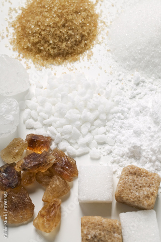 various types of sugar (detail)