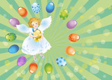 Easter reason with an angel-1 poster