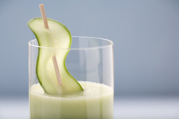savoury cucumber drink (detail)