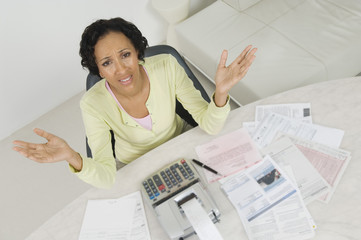 Woman Worried About Finances