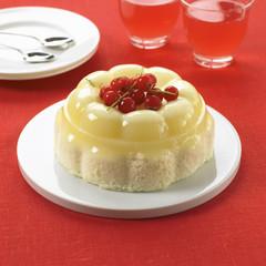 moulded vanilla blancmange on sponge