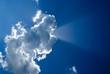 Cloud and sunbeams