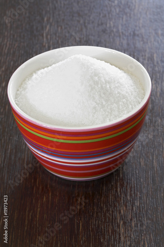 white sugar in a small bowl