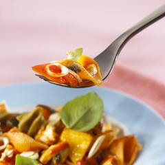 spicy pan-cooked pasta dish