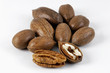 pecans, opened and unopened